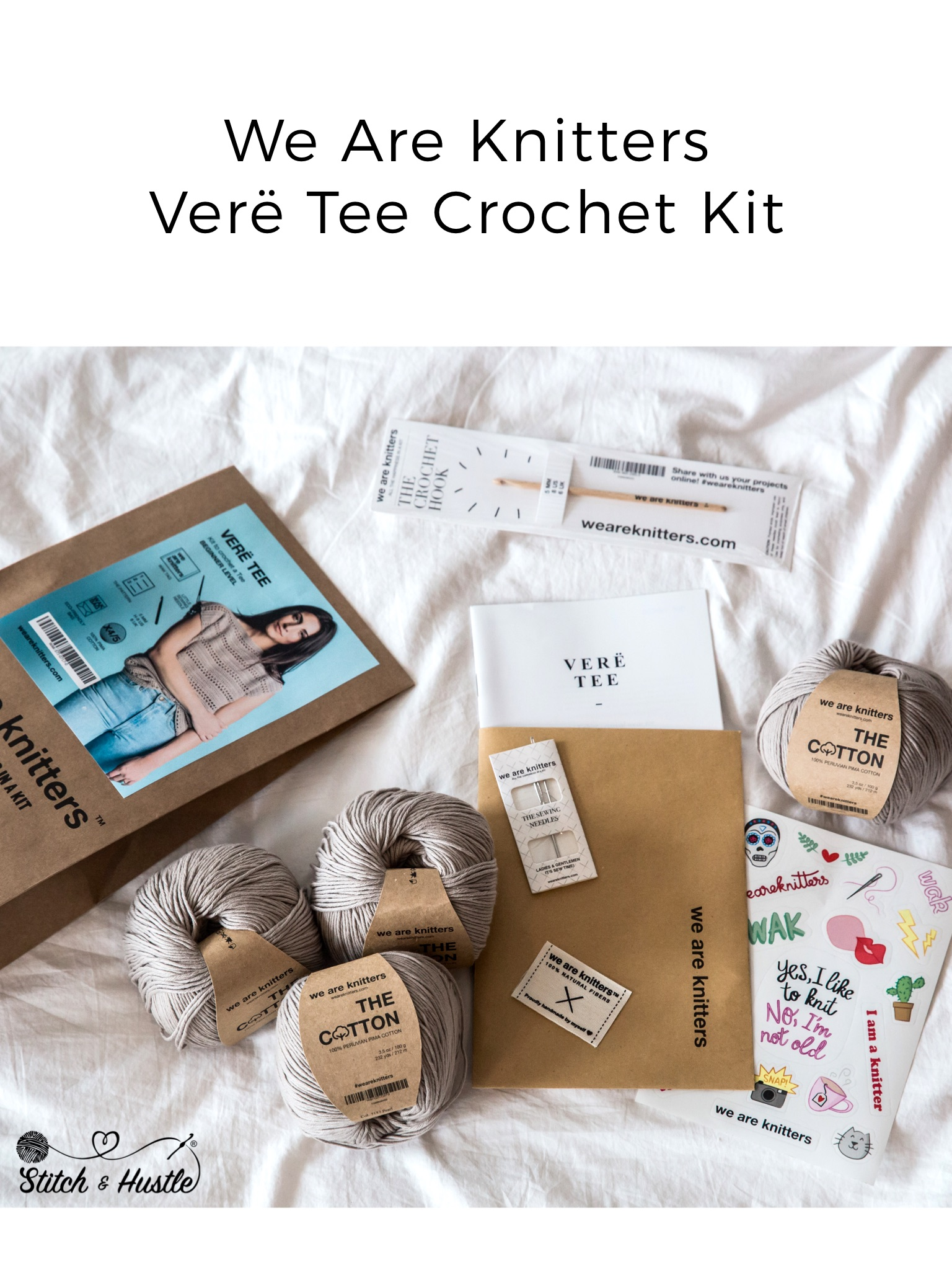 We Are Knitters We Are Knitters Verë Tee Crochet Kit Review Giveaway