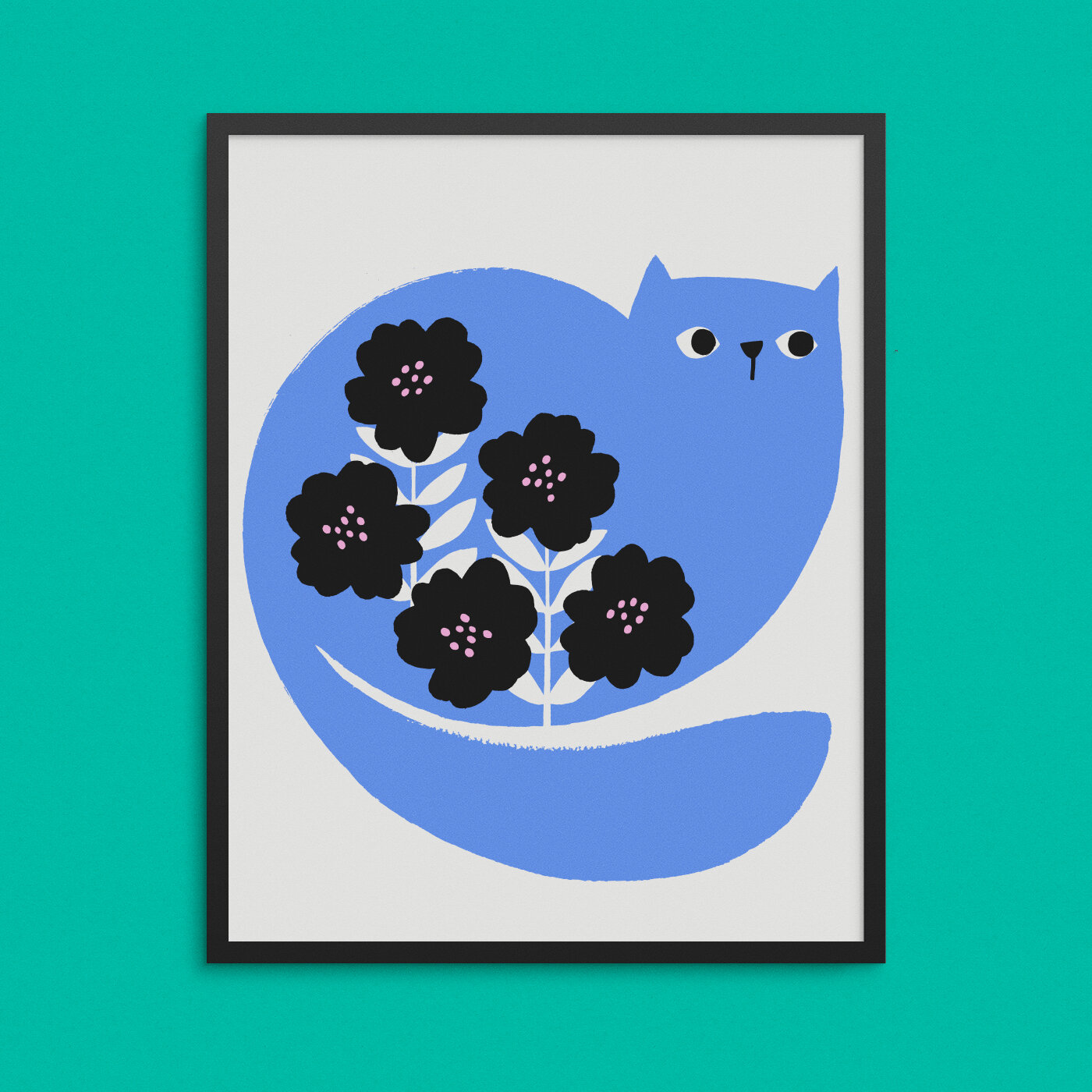 Cat Poster Peagreen