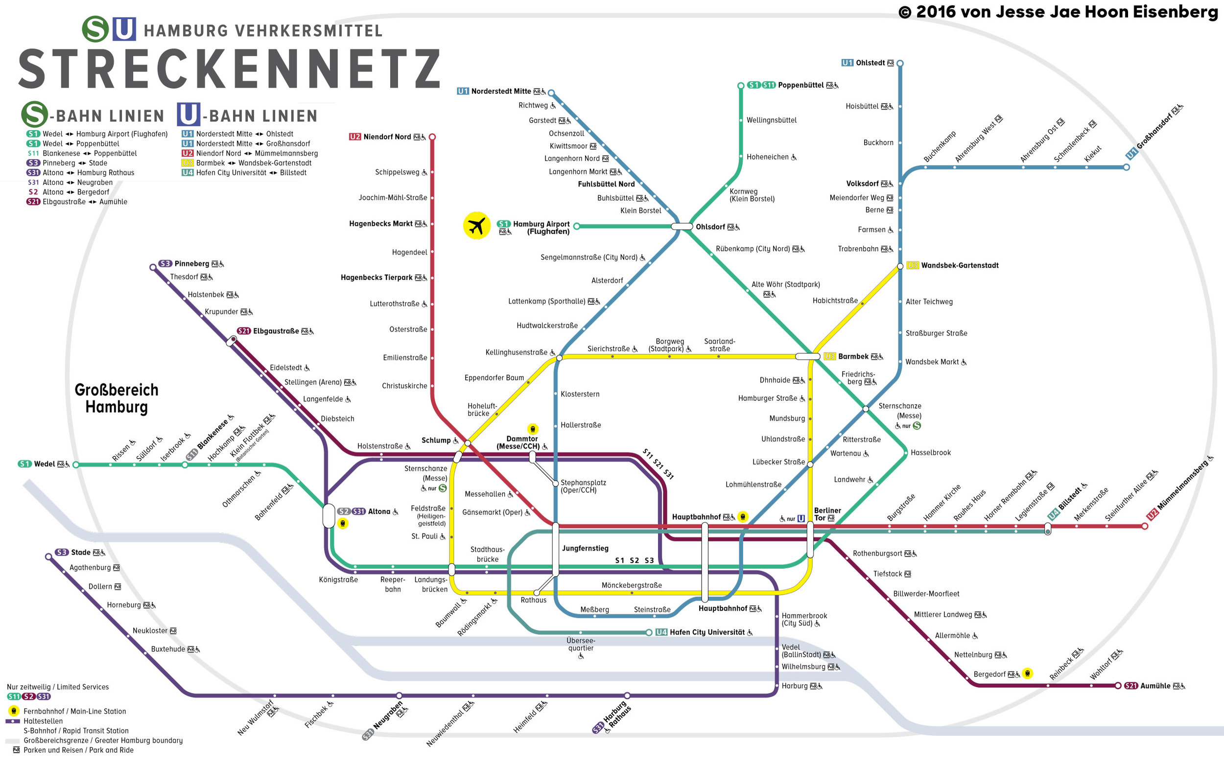S-bahn Plan Von Hamburg Graphic Design Work Jesse Jae Hoon