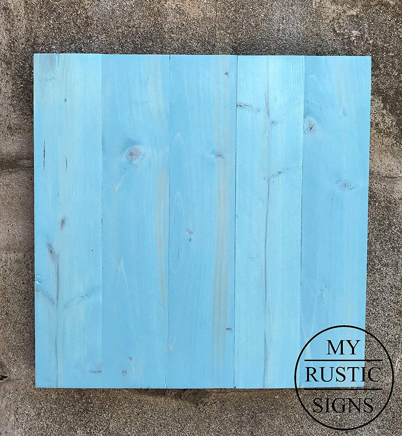 Rustic Wood Sign Blank In Coastal Aqua My Rustic Signs