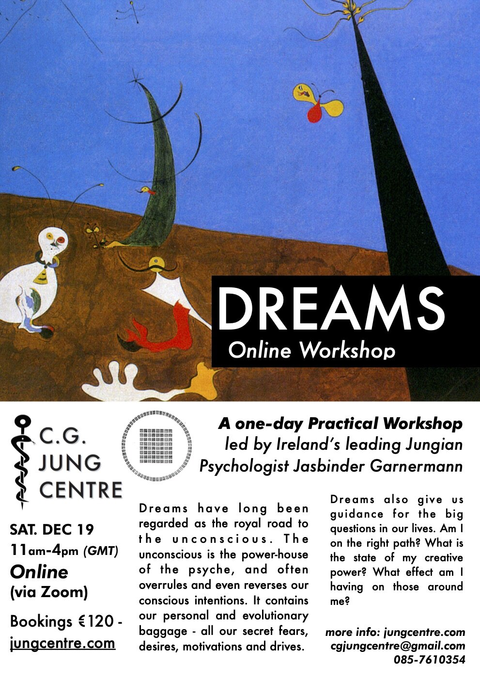 Dreams Online Workshop Jung Centre