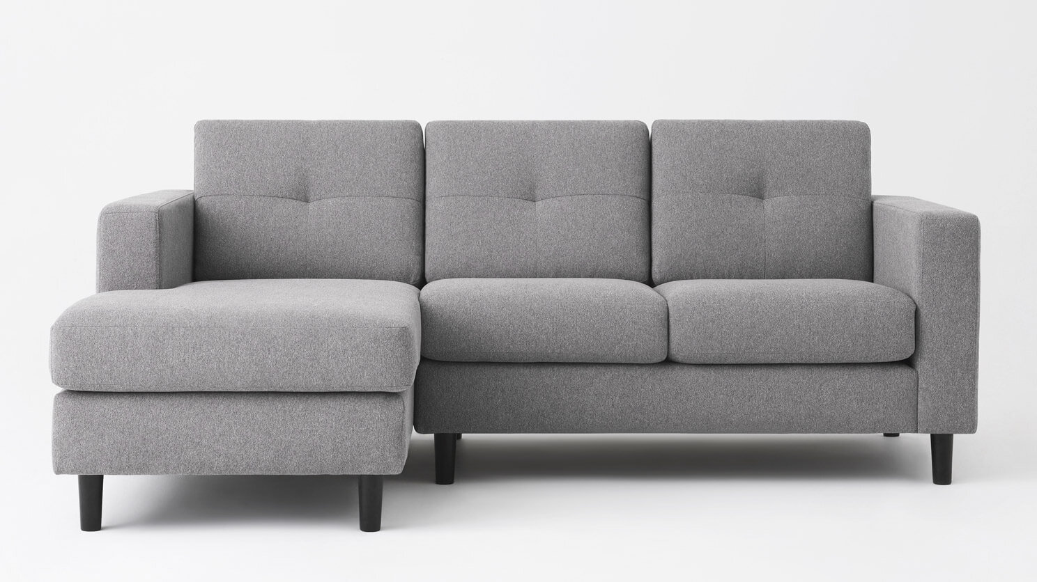 Solo Sectional Sofa Mila Grey Fabric M Collection Home