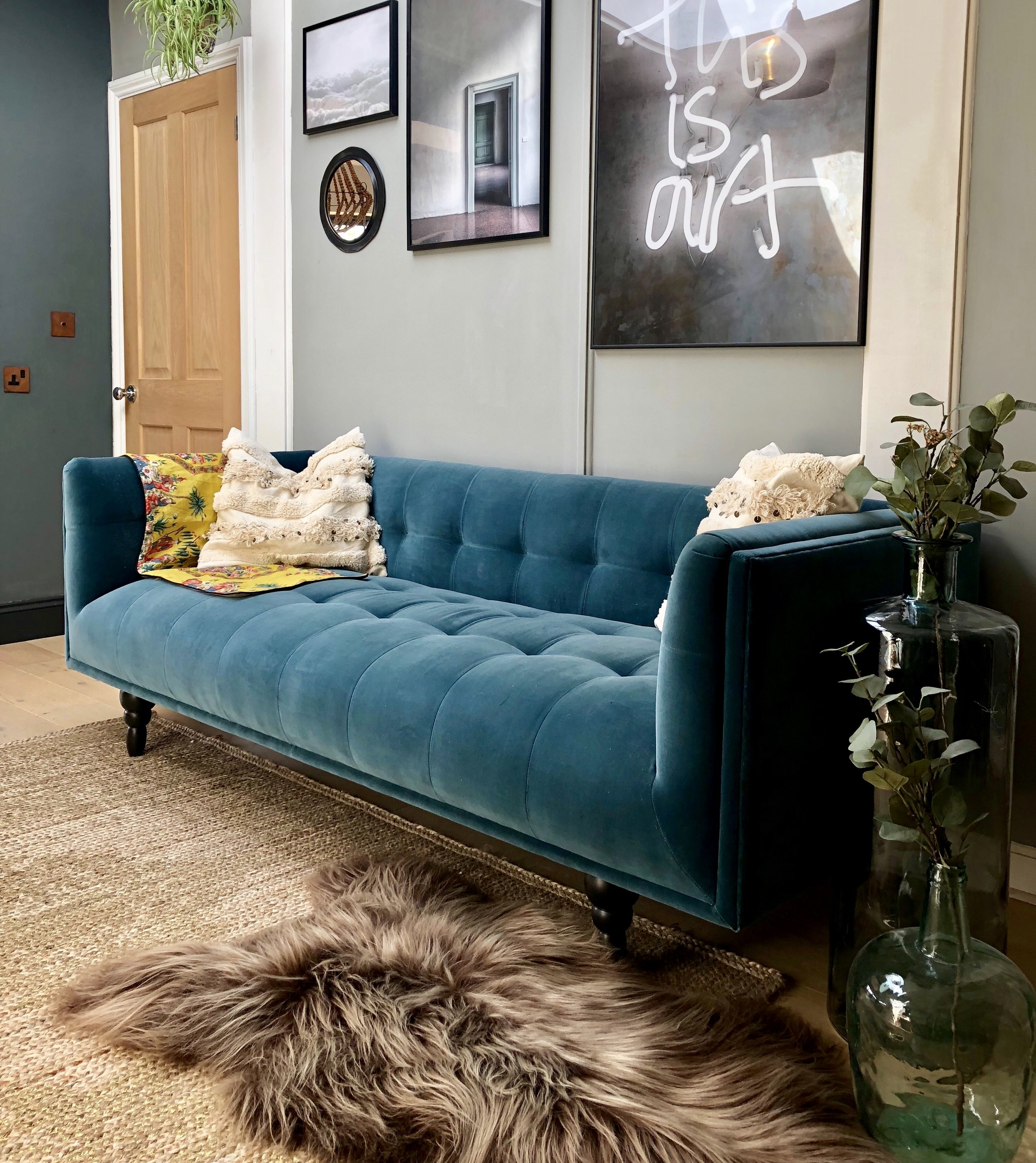 Sofa Petrol Velvet Sofas....... More Than Just A Trend — Hornsby Style