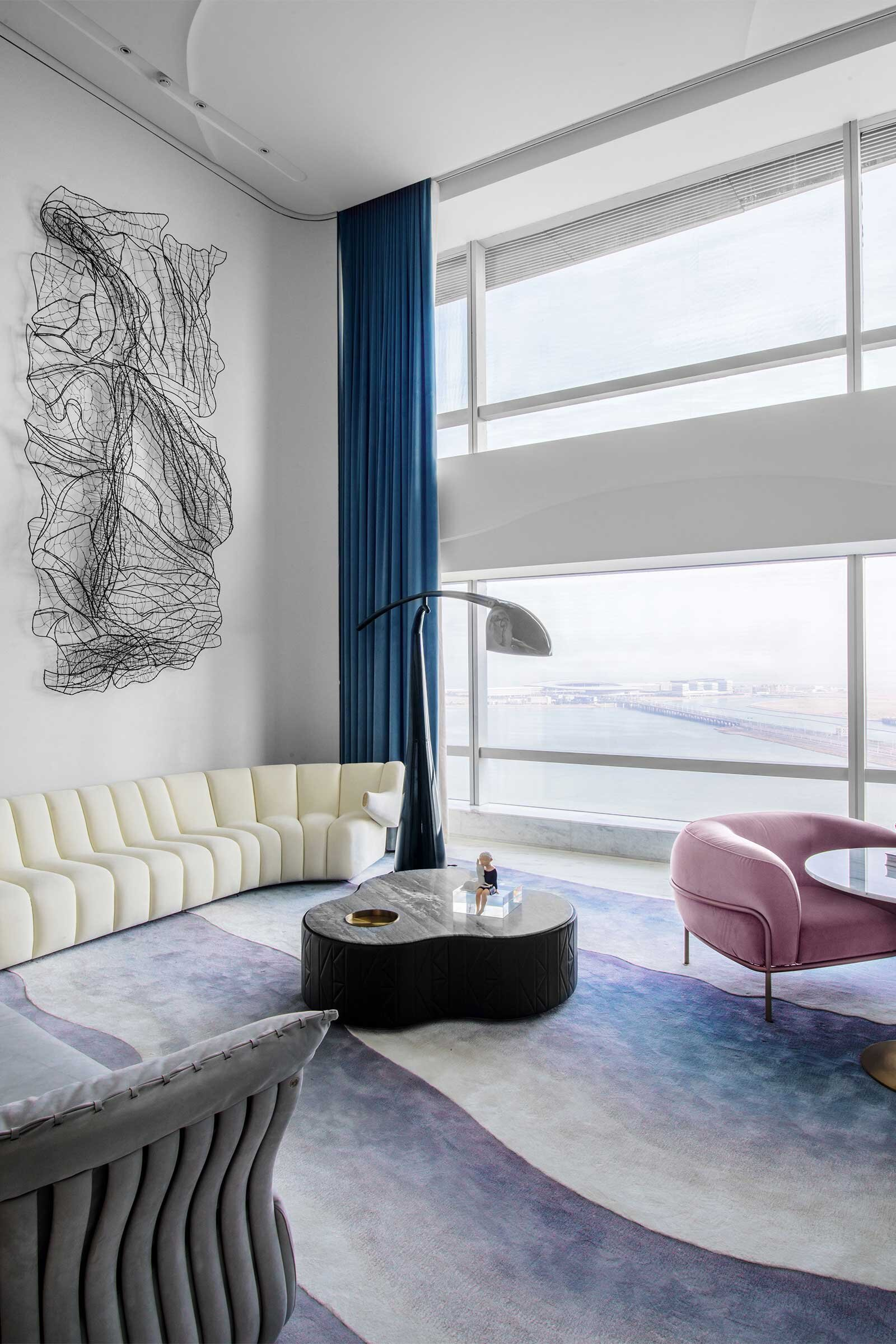 A Curvaceous Coastal Apartment Design Anthology