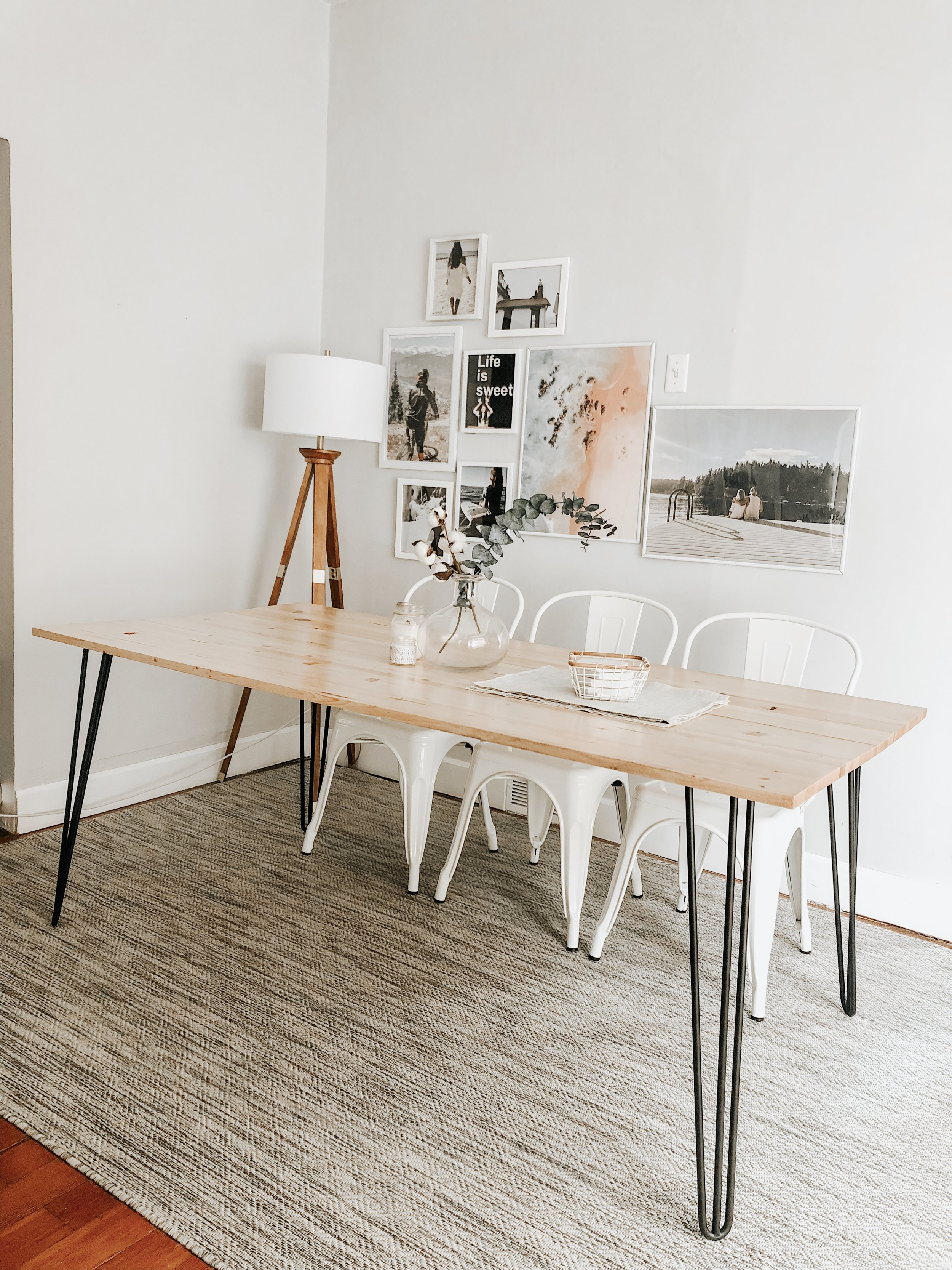 Diy Hairpin Dining Table From Jennifer Ann
