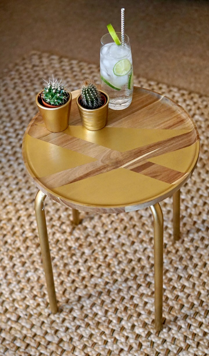 Ikea Hack Gorgeous Golden Side Tables Home