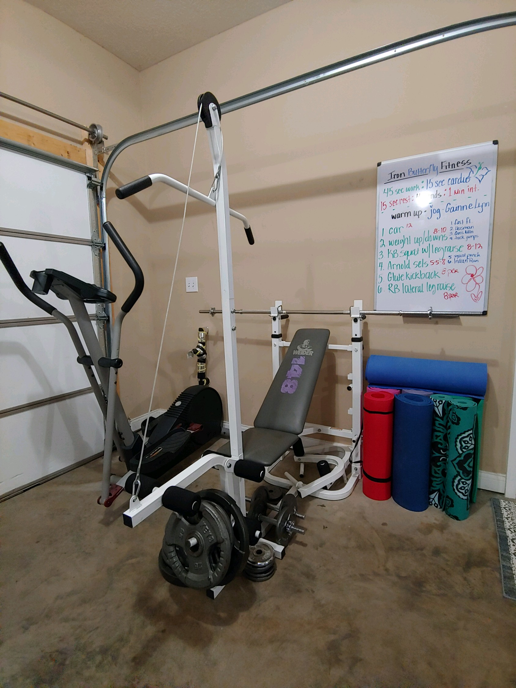 Garage Gym With Car Garage Gym Fernweh Fitness