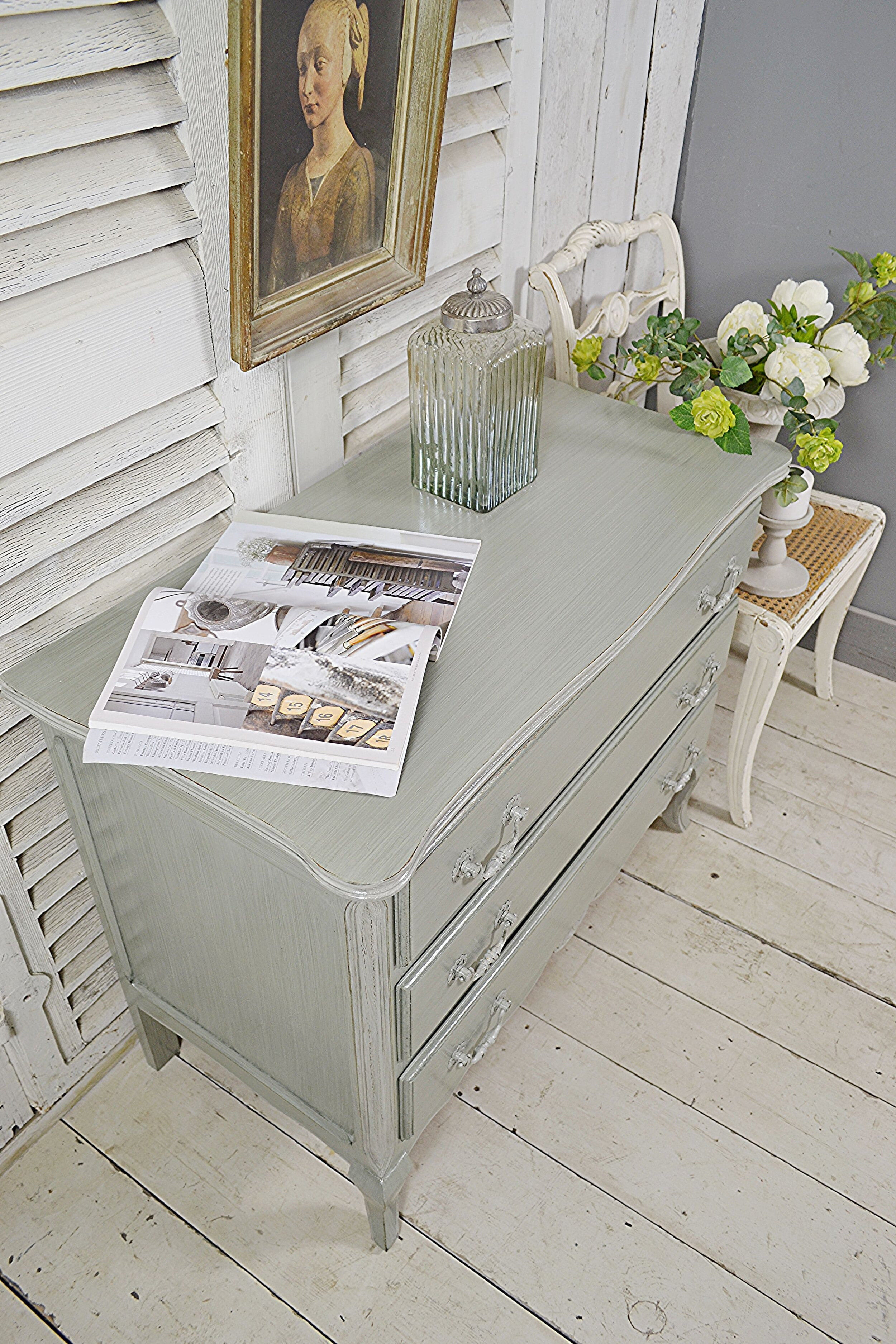 Small Low Level Vintage French Glazed Chest Of Drawers The Treasure Trove In Sussex Shabby Chic Furniture Vintage Furniture