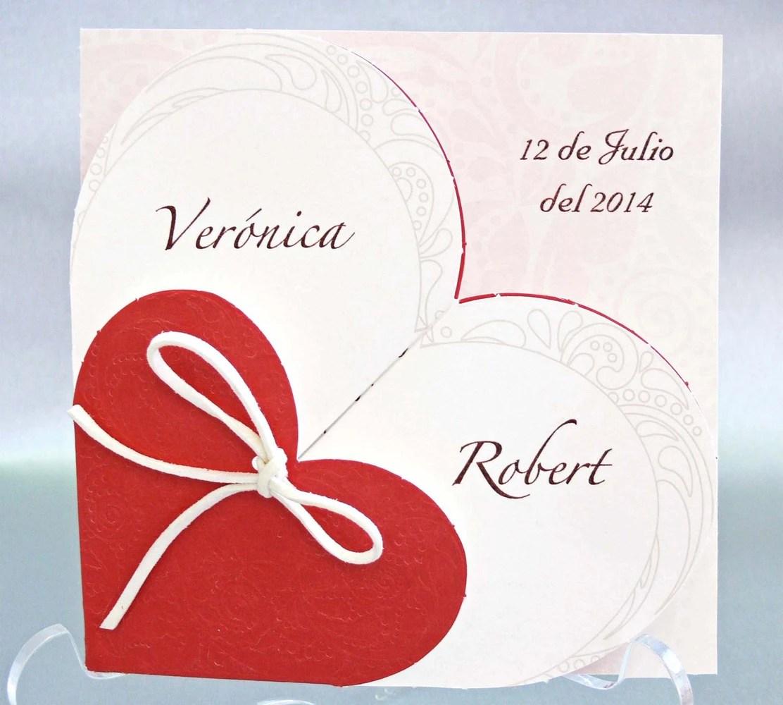 Invitaciones de boda corazón Impresión gratis