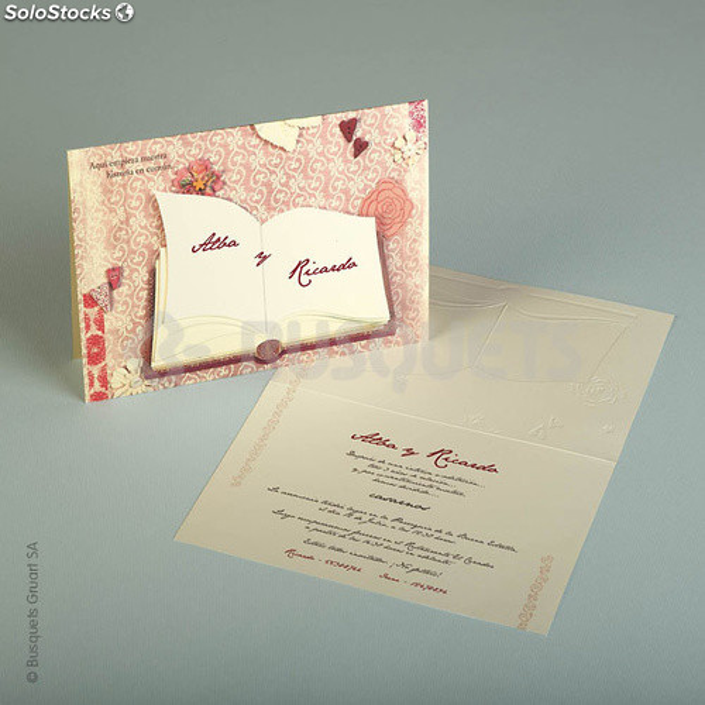 Invitaciones de boda lovebook Impresión GRATIS