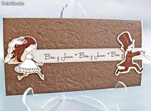 Invitaciones de boda marrón Impresión gratis - invitaciones de boda gratis