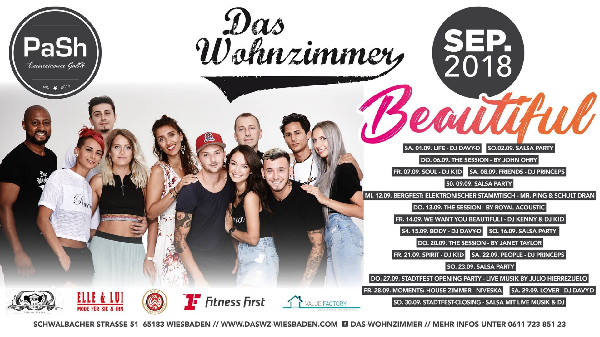 After Work Wohnzimmer Wiesbaden 15 09 2018 Beautiful Body Party With Dj Davy D Das Wohnzimmer