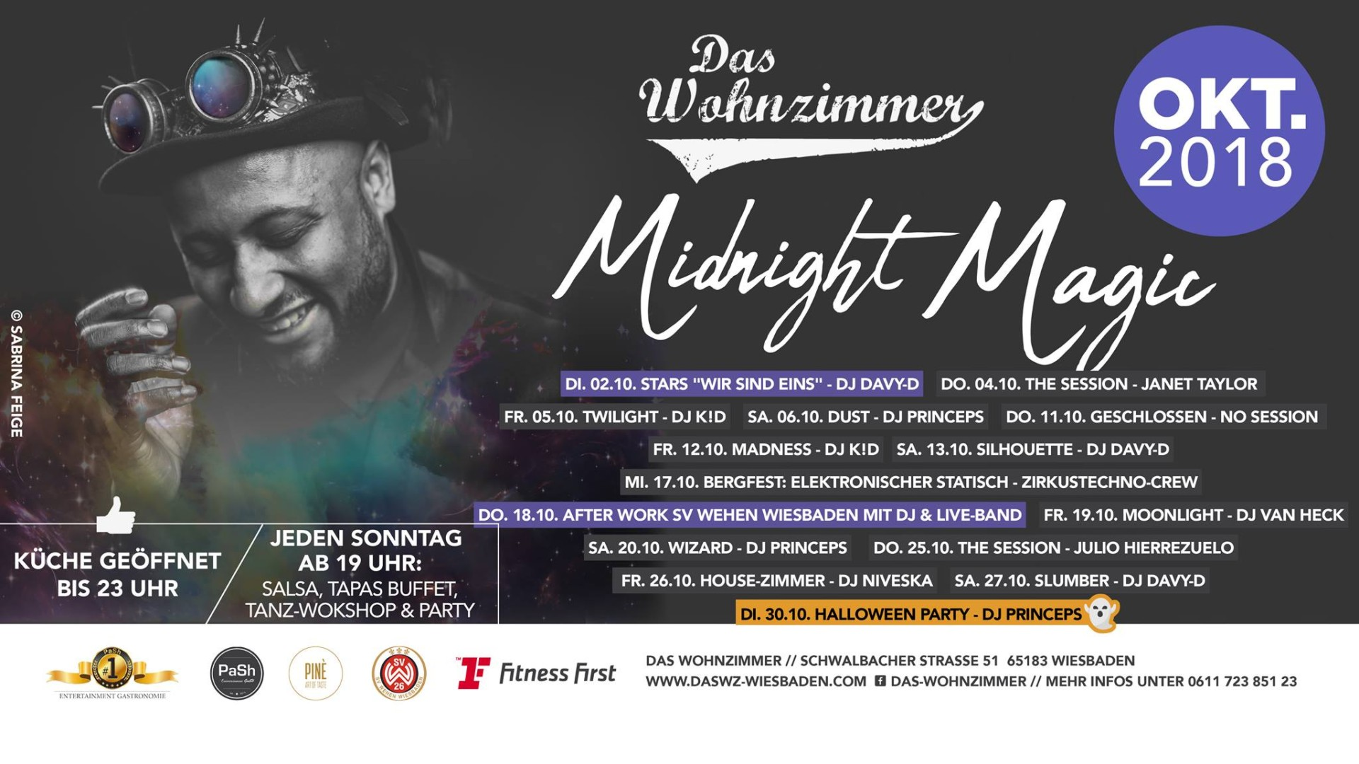 After Work Wohnzimmer Wiesbaden 19 10 2018 Midnight Magic Moonlight With Dj Van Heck Das