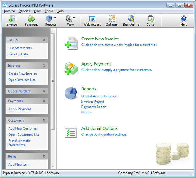 Express Invoice Free Invoicing Software - standaloneinstaller
