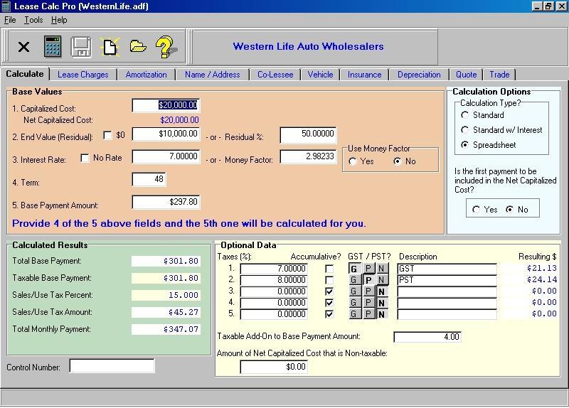 Lease Calc Pro - standaloneinstaller