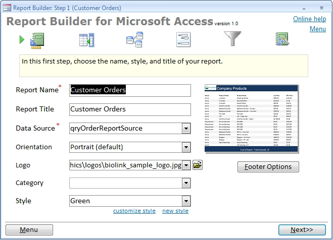 Report Builder for Access - standaloneinstaller