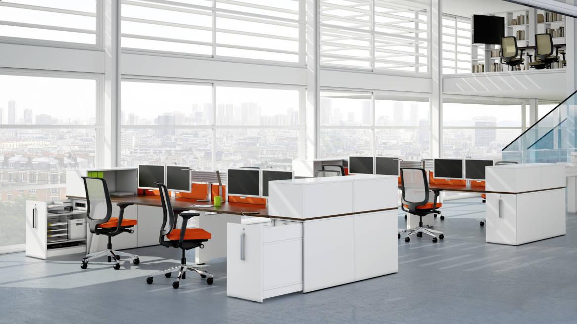 High Density Workspace Storage Divider Steelcase