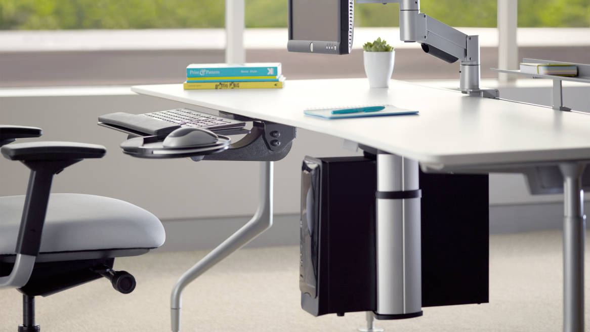 Cpu Holder Stands Desk Space Saver Steelcase