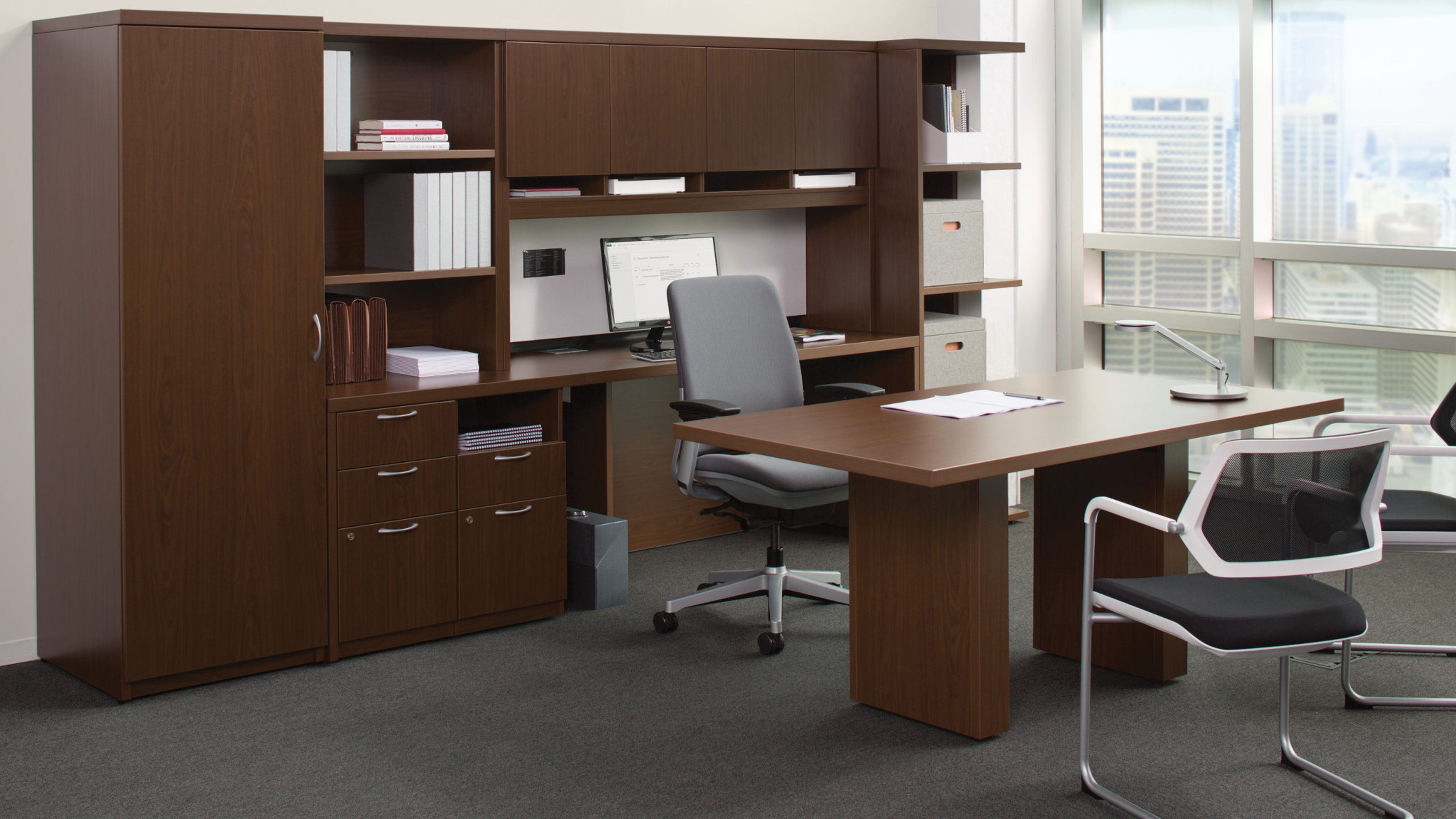 Office Desk With Storage Restaurant Interior Design