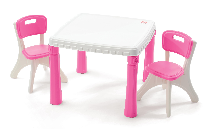 lifestyle kitchen table chairs set kitchen table and chairs Step2 LifeStyle Kitchen Table Chairs Set Pink