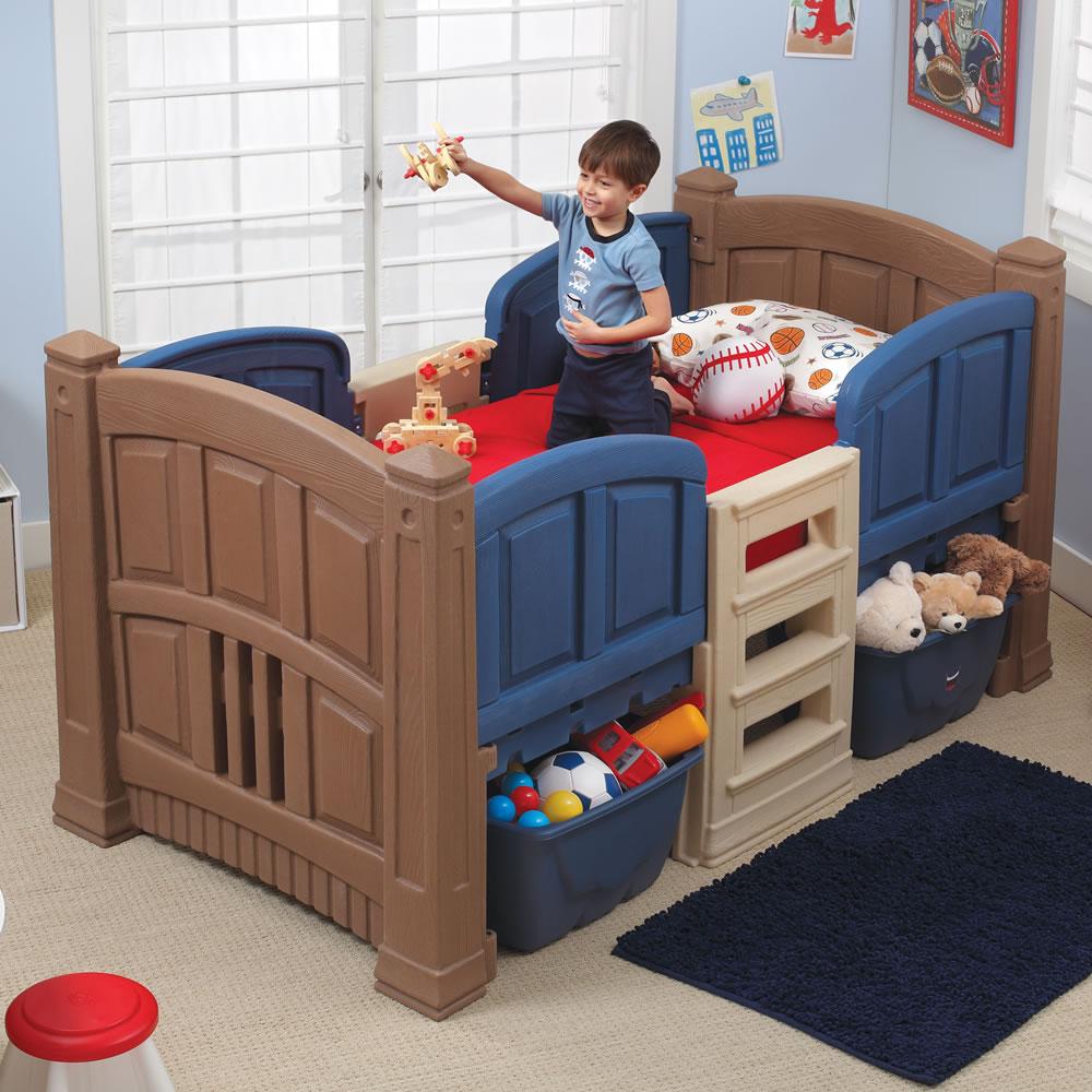Boy s loft storage twin bed