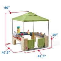 All Around Playtime Patio with Canopy | Kids Playhouse | Step2