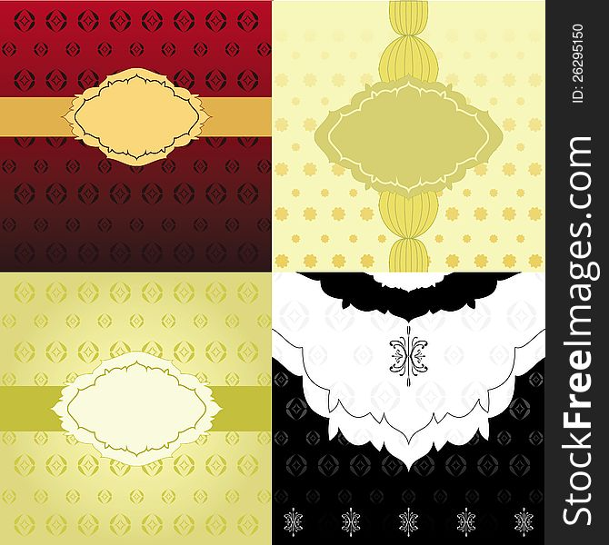 Set Of Invitation Backgrounds - Free Stock Images  Photos