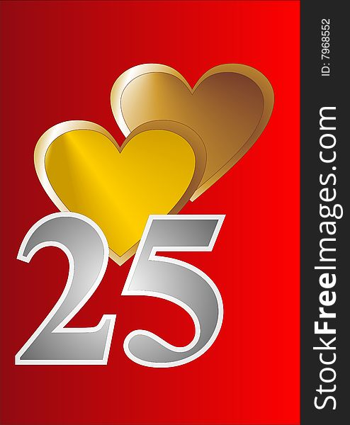 25th Anniversary Card - Free Stock Images  Photos - 7968552
