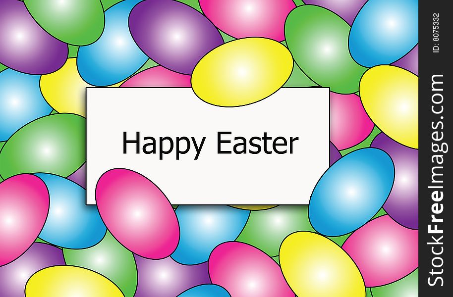 Happy Easter Egg Border - Free Stock Images  Photos - 8075332