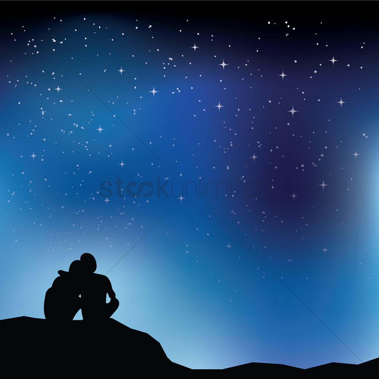Free Fall Wallpaper With Animals Couple Looking At Stars Vector Image 1540114