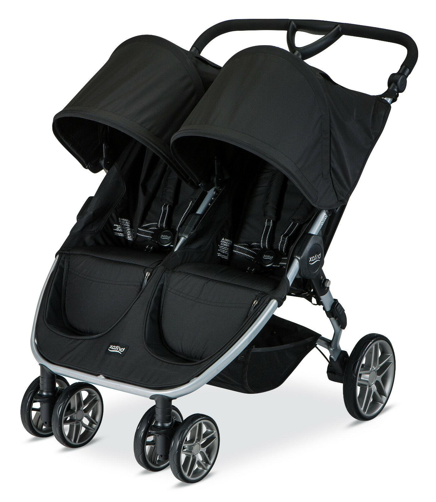 Combi Double Stroller Side By Side Britax 2016 B Agile Double Stroller Black