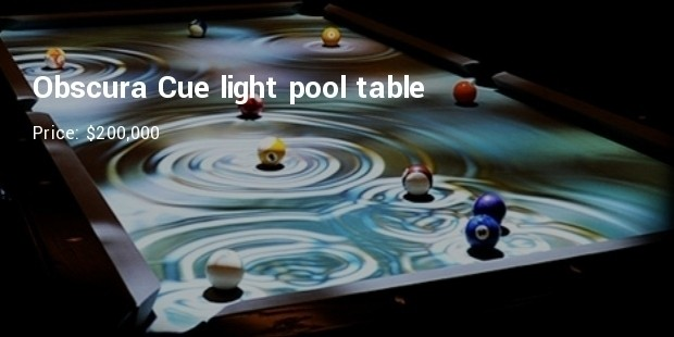 Obscura Cue Light Pool Table