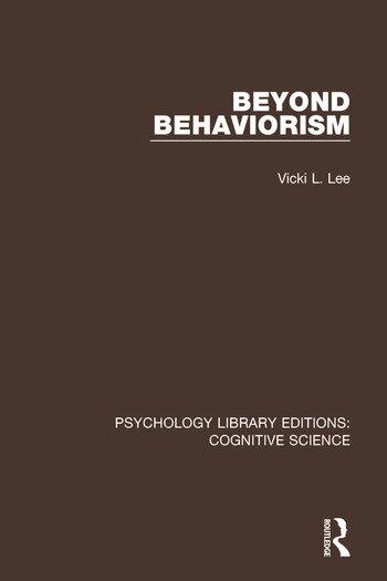 Beyond Behaviorism - CRC Press Book