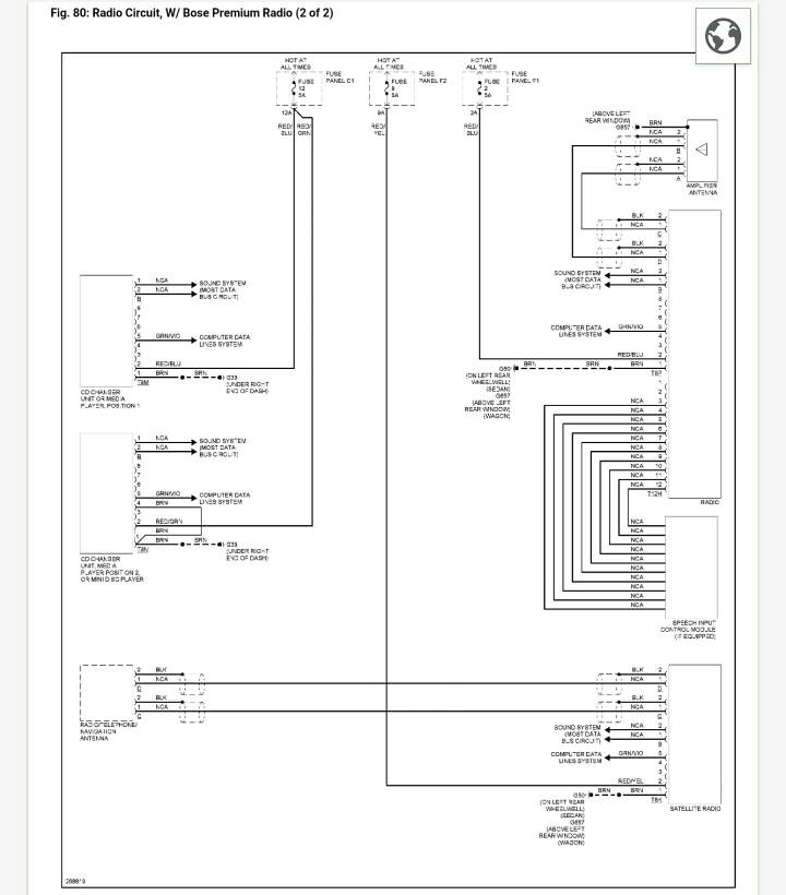 C6 Bose AMP Pin out Diagram