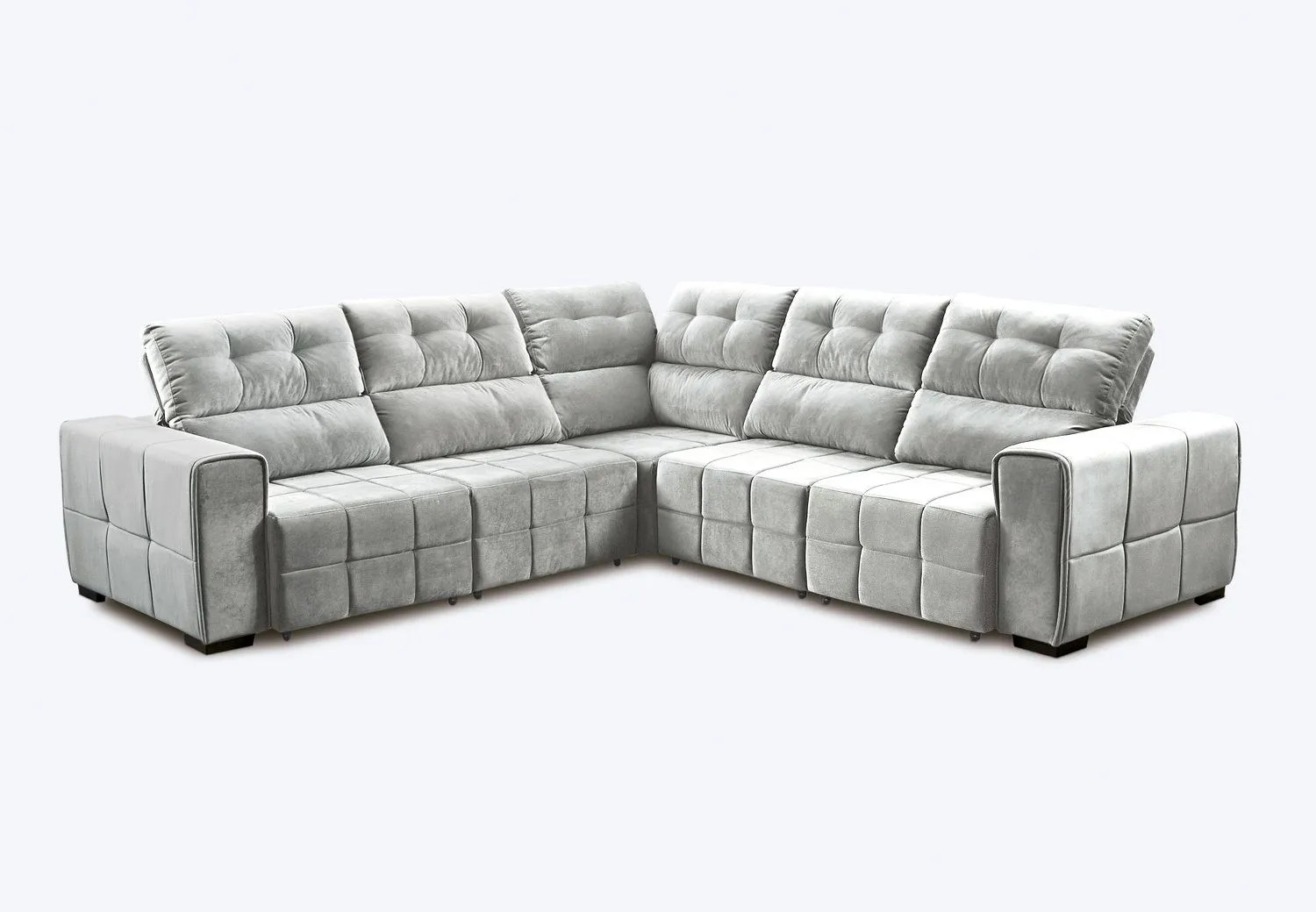 Sofa En Promocao Sofa Retratil De Canto Cinza Baci Living Room
