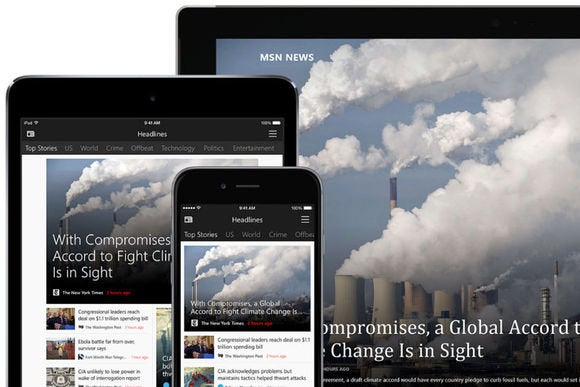 Microsoft\u0027s cross-platform push continues with MSN apps for iOS and