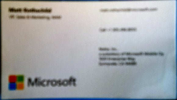 Hands-on Windows Phone\u0027s business-card scanning fills a need, but
