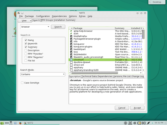 opensuse yast2 install software