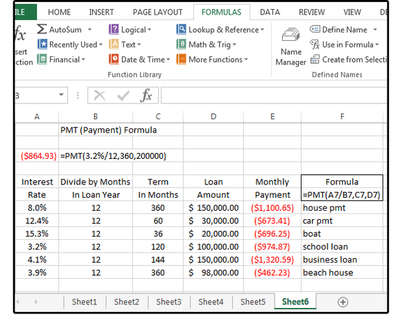 how to calculate car payments in excel