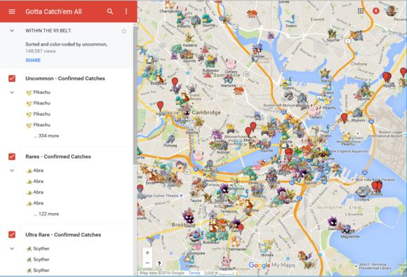 New Pokémon Go maps show you where to catch \u0027em all (or did) PCWorld - best of locate places on world map game