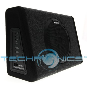 Kicker 11PT8 BassStation 8-inch thin-profile box with a built in 100