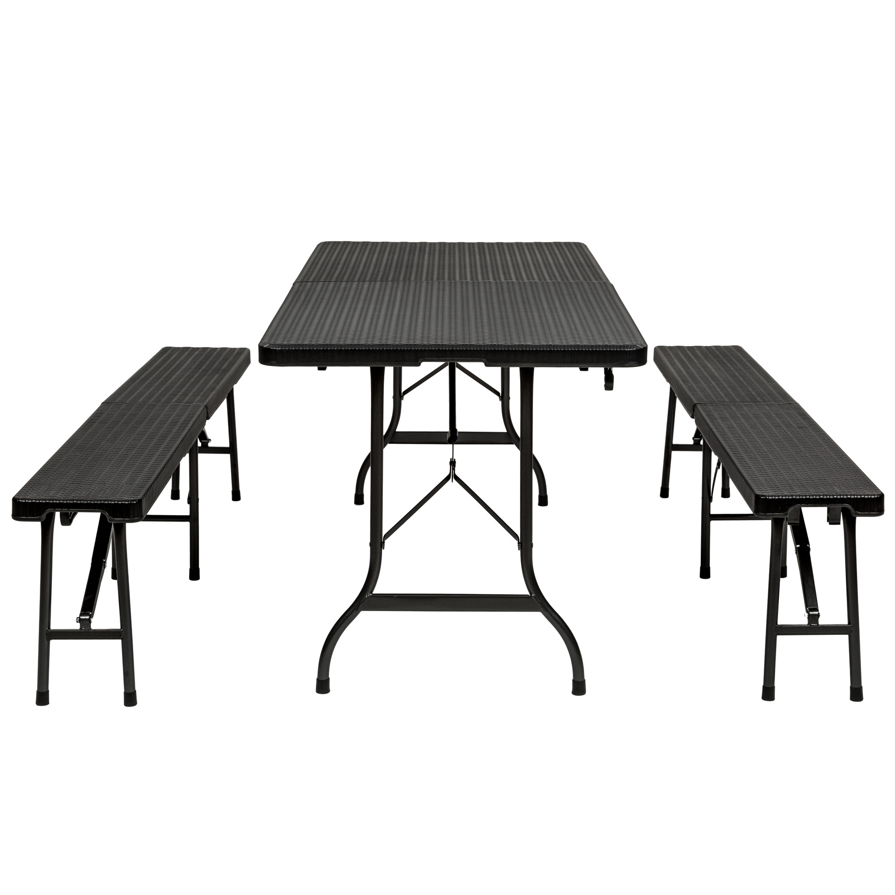 Portable Dining Table And Chairs Folding Portable Table Benches Camping Set Garden Dining