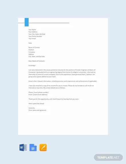 66+ FREE Cover Letter Templates Download Ready-Made Samples