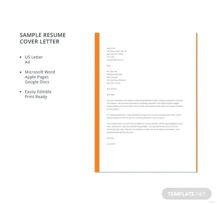 Free Cover Letter Templates Download Ready-Made Templatenet - cover letter template for resume
