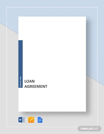 Loan Agreement Template Download 85+ Legal Templates in Microsoft