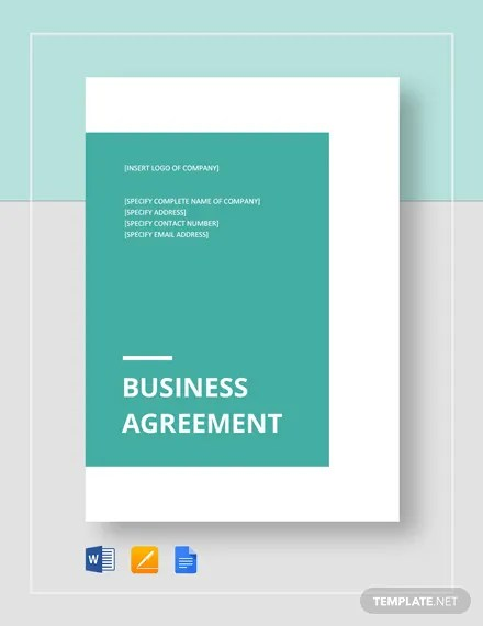 Business Agreement between Two Parties Template Download 234+