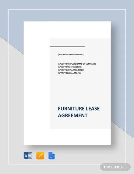Furniture Lease Agreement Template Download 234+ Agreements in
