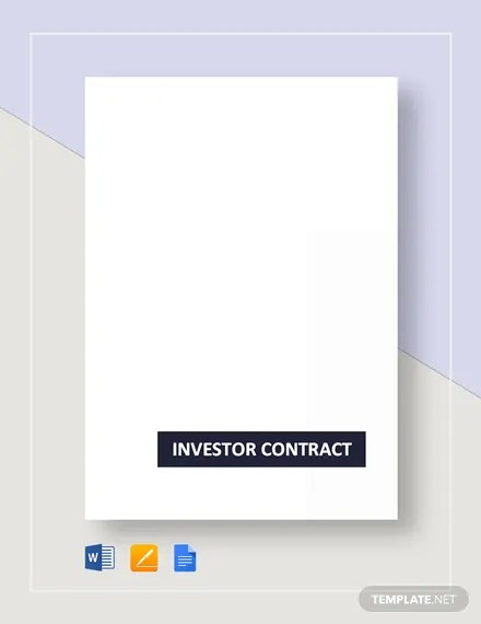 Investor Contract Template Download 146+ Contracts in Microsoft