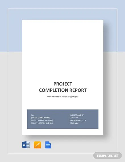 Project Completion Report Template  Download 143+ Reports in