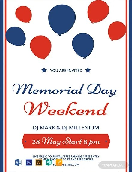 FREE Memorial Day Weekend Flyer Template Download 812+ Flyers in